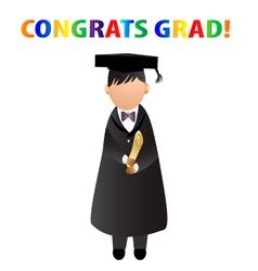 Congrats grad card vector