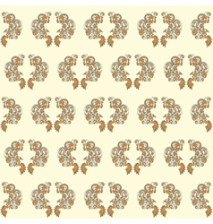 Vintage seamless wallpaper yellow vector