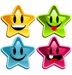 Happy smiley stars vector