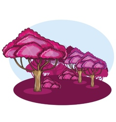 Pink wood against a cloud vector