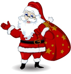 Happy santa claus cartoon for you design vector