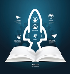 Book diagram creative paper cut aerospace vector