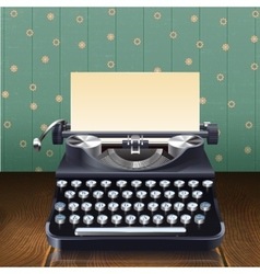 Retro style typewriter vector