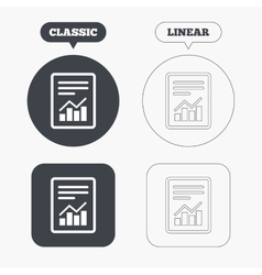 Text file sign file document with chart symbol vector