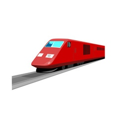 Red train front view vector