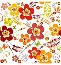 Vivid seamless floral pattern vector