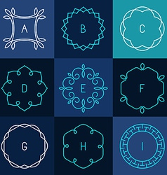 Line design elements vector