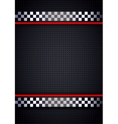 Racing background metallic perforated vector