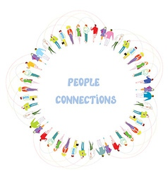 People communication background - frame vector