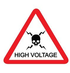 High voltage sign vector