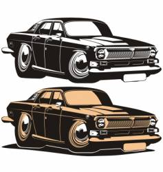 Volga vintage car vector