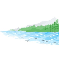 Mountain river vector