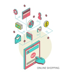 Icons for mobile marketing and online shopping vector