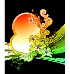 Colorful floral design vector