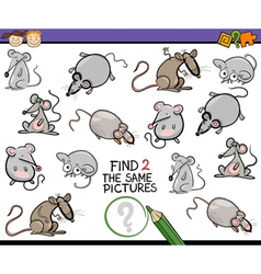 Find same picture game cartoon vector