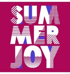 Summer joy t-shirt typography vector