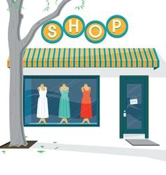 Shop exterior vector