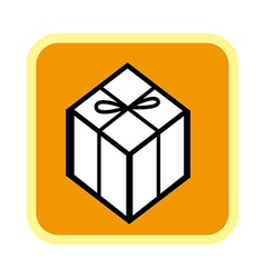 A icon of gift box vector