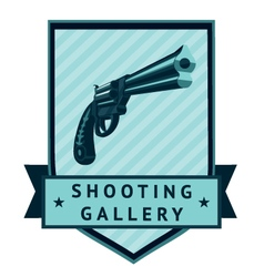 Shooting gallery lable vector