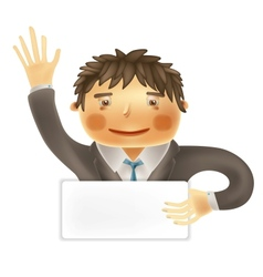Funny worker for use in presentations etc vector