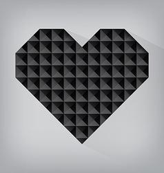 Black retro heart triangle abstract love valentine vector
