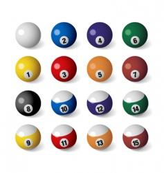 Billiards balls vector