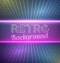 Retro vintage 1980 bright neon color background vector