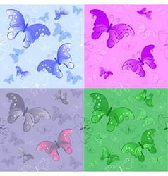 Seamless pattern from butterflies vector
