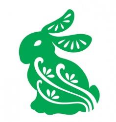 Decorative rabbit vector