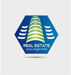 Real estate office building vector