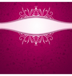 Pink background with decorative ornaments vector