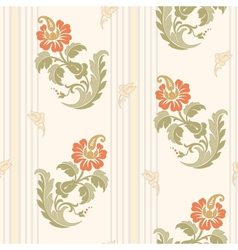 Decorative flowers in classic style vector