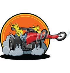 Cartoon dragster vector