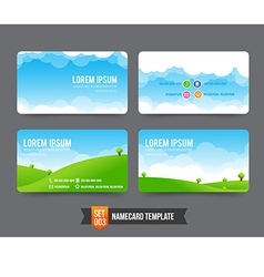 Business card template set 003 vector