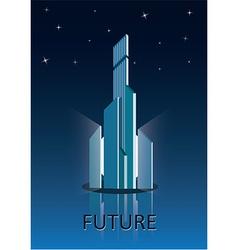 Future city poster vector