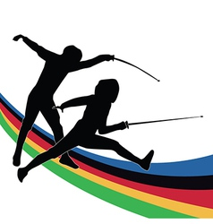 Olympic sporting background vector