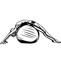 Womens fitness - vector