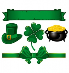 Set to st patrick's day vector