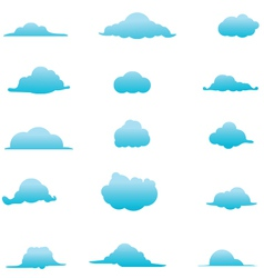 Cloud collection 6 vector