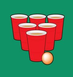 Beer pong vector