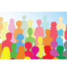 Colorful crowd vector