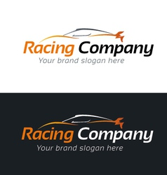 Racing company logo template vector