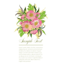 Bouquet of summer flowers vector
