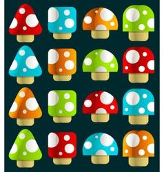 Mini magic mushrooms vector