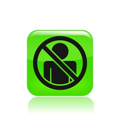 Access forbidden icon vector