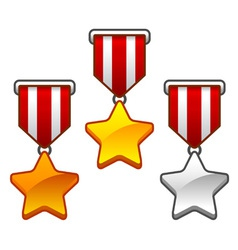 Star medals vector