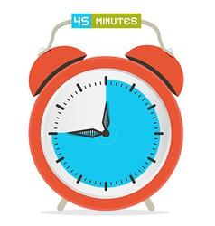 45 - forty five minutes stop watch - alarm clock vector
