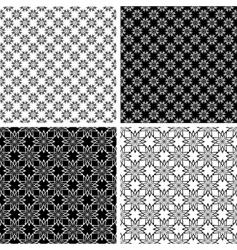 Floral patterns set vector