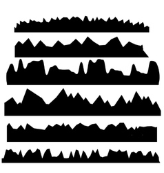 Silhouettes of mountains vector