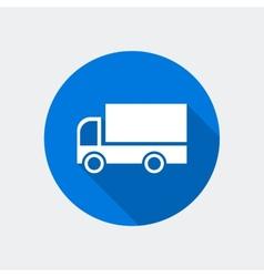 Cargo van icon vector